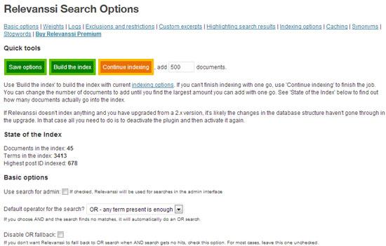 Relevanssi Search Plugin